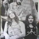 Black Sabbath b&w poster Ozzy Osbourne 70s era image