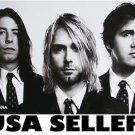 Nirvana well-dressed triple mugshot b&w poster 31 x 21 Kurt Cobain Dave Grohl