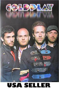 Coldplay vivid lettering standing POSTER 14.5 x 21 Chris Martin &sent from USA