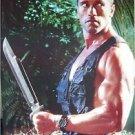Arnold Schwarzenegger big knife machete poster 21x31 Predator era