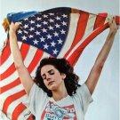 Lana Del Rey holding flag POSTER 14.5 x 21 pop music diva (sent FROM USA in PVC)