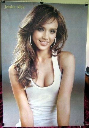 Jessica Alba sexy poster grey bkgrnd & SHIP FROM USA