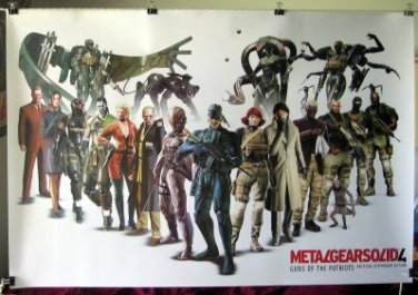 Metal Gear Solid 4 horiz POSTER HTF &ship from USA