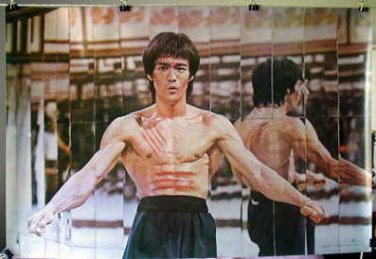 Bruce Lee arms out horizontal poster karate martial arts &ship from USA
