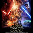 Star Wars The Force Awakens colorful repro movie poster 23.5 x 34