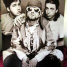 Nirvana Kurt Cobain flight goggles b&w poster 21 x 31 90s Seattle grunge legends