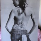 Angelina Jolie back tattoos b&w POSTER 23.5 x 34 &SHIP FROM USA