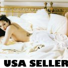 Angelina Jolie sexy horiz poster 34x23.5 on bed showing tattoos & SHIP FROM USA