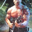 Arnold Schwarzenegger mudsplotch poster 21 x 31 Predator era early movie career