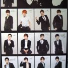 Super Junior black collage poster 23.5 x 34 Korean Kpop boy band Suju