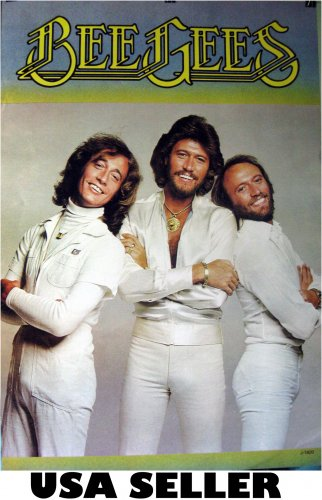 Bee Gees nostalgic POSTER 23.5 x 34 as they looked in 1970s Barry Robin Maurice