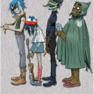Gorillaz fall in line vert POSTER 23.5 x 34 colorful matte Gorrillaz