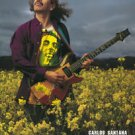 Carlos Santana in flower field POSTER 23.5 x 34 rock guitar legend younger then