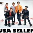 Bigbang white horiz red bkgnd POSTER 34 x 23.5 Korean Boy band Big Bang G-Dragon