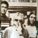 Nirvana poster 21 x 31 Kurt Cobain picking nose goofy Seattle grunge legends
