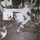 Nirvana poster Kurt Cobain toppled on drums 23.5x34 b&w early grunge Bleach era