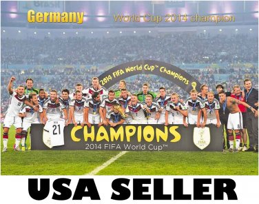 Germany team celebrates 2014 World Cup win POSTER 34x23.5 German soccer football