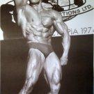 Arnold Schwarzenegger 1974 bodybuilding contest b&w poster 21x31 Mr. Olympia