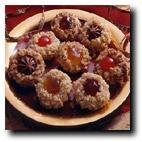 Homemade Cherry or Chocolate Thumbprint Cookies - 2 Dozen