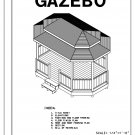 Octagon Oblong Double Roof gazebo building plans blueprints 10' x 16' do it yourself DIY