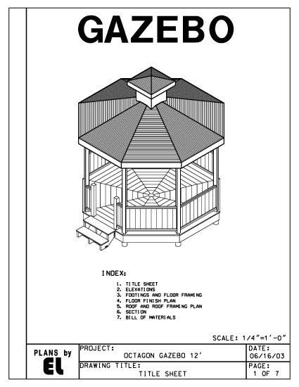 Octagon 8 sided gazebo building plans blueprints 12 39 do it for Home hardware gazebo plans