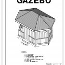 Hexagon Oblong 6-sided gazebo building plans blueprints 10' x 16' do it yourself DIY