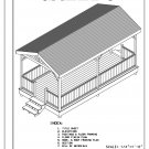 4-sided rectangular gazebo with gable roof building plans blueprints 10' x 20' do it yourself DIY