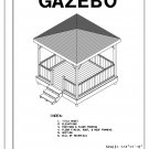 4-sided gazebo Hip Roof building plans blueprints 10' do it yourself DIY