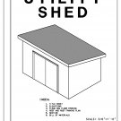 10' x 7' Half Height Utility Shed building plans blueprints do it yourself DIY