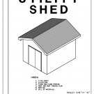 10' x 12' Shed with gable roof building plans blueprints do it yourself DIY