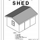 16' x 12' Utility Shed building plans blueprints do it yourself DIY