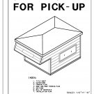 Camper shell for pickup building plans blueprints do it yourself DIY