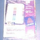 Avery® Ready Index® Table of Contents Dividers 11197, 15-Tab, 6 Sets