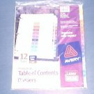 Avery® Ready Index® Table of Contents Dividers 11141, 12-Tab Set