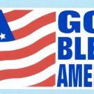 God Bless America decal USA flag bumper sticker