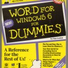 Word 6 for Windows for Dummies book