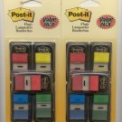 "lot of Assorted Post-it Flags 1/2"" and 1"""