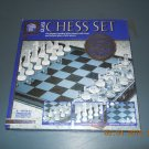 frosted glass chess set
