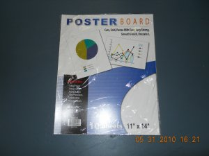11 Inch X 14 Inch White Poster Board (10/Pack) - new