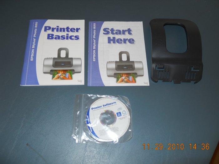 epson Stylus Photo 820 printer extras