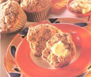 Banana Nut Muffins recipe card