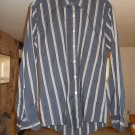 Monte Carlo men's dress shirt size M medium 15 - 15 1/2 long sleeve black/gold