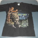 graphic t-shirt mens large black cats