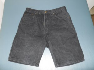 Route 66 men's black denim jeanshorts 32 w relaxed fit