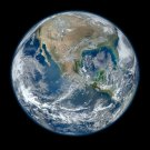 Wall size art 8' x 9' image Earth blue marble americas