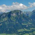 Wall size art 8' x 18' image Frontalpstock Mountain Glarus Alps Switzerland