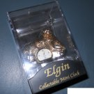 Elgin Collectable Mini Clock - Gold Leopard - new