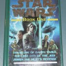 Star Wars The glove of Darth Vader Lost city of the Jedi Zorba the Hutt's revenge hardcover book