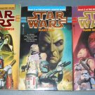Star Wars Bounty Hunter wars trilogy books book novel novels lot series 3 paperbacks (a)