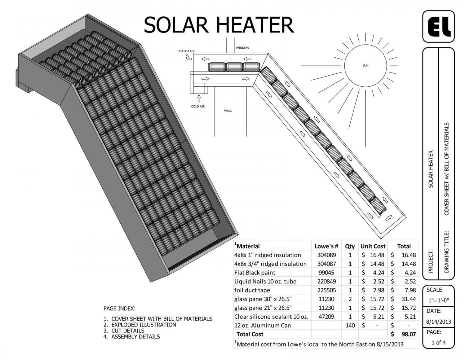 Solar window mounted passive heater building plans for Solar plans
